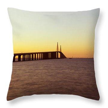 Sunshine Skyway Bridge Throw Pillows