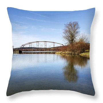 Throw Pillow featuring the photograph Bridge At Upper Lisle by Christina Rollo