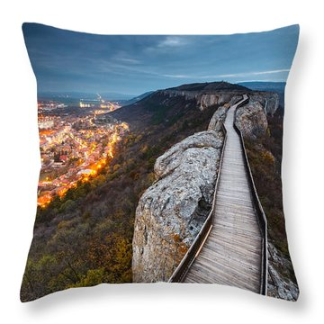 Bridge Between Epochs Throw Pillow
