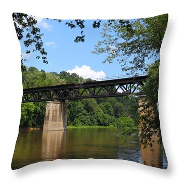 Bridge Crossing The Potomac River Throw Pillow