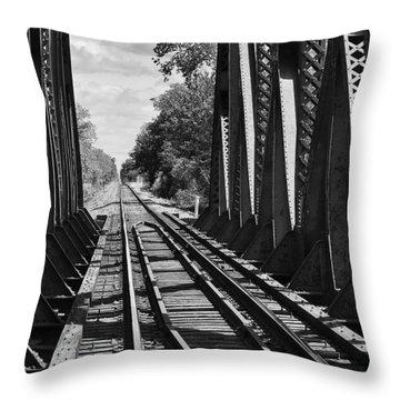 Bridge In Black And White Throw Pillow
