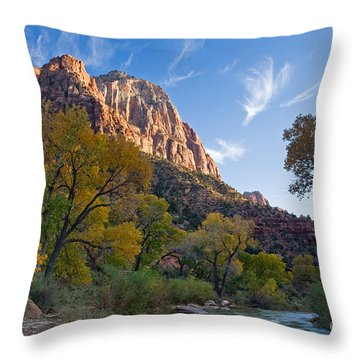 Bridge Mountain Throw Pillow