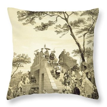 Chinese Junk Throw Pillows