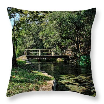 Bridge Of Serenity Throw Pillow by Judy Vincent