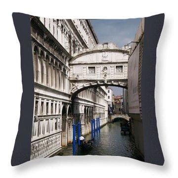 Bridge Of Sighs Throw Pillow by Ellen Henneke