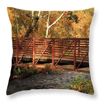 Bridge On Big Chico Creek Throw Pillow