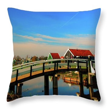 Throw Pillow featuring the photograph Bridge Over Calm Waters by Jonah  Anderson