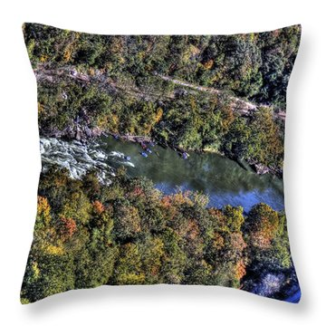 Throw Pillow featuring the photograph Bridge Over River by Jonny D