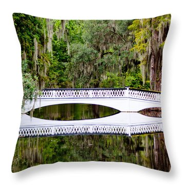 Throw Pillow featuring the photograph Bridge Over Silent Waters by Jean Haynes