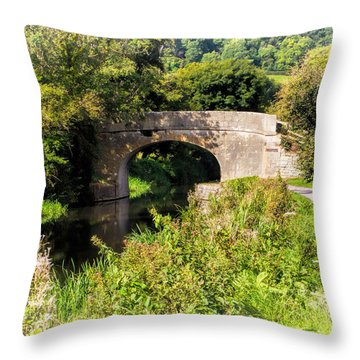 Bridge Over Still Waters Throw Pillow