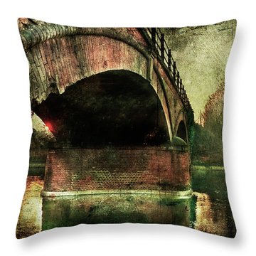 Bridge Over The Canal Throw Pillow