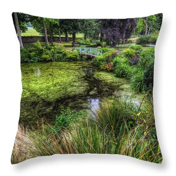Bridge Over The Pond Throw Pillow by Ian Mitchell