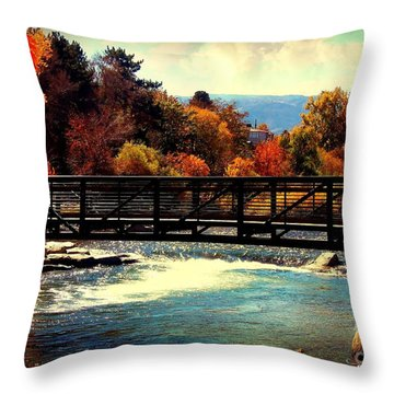 Bridge Over The Truckee River Throw Pillow