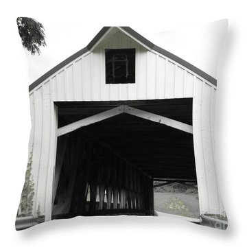 Bridge Over Troubled Waters Throw Pillow by Michael Krek