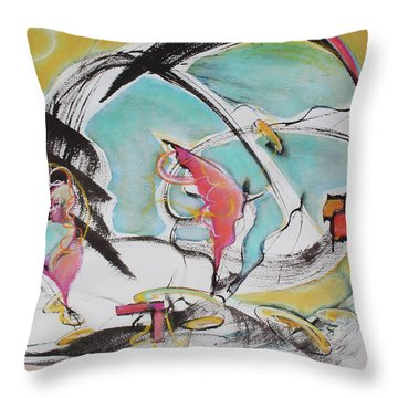 Bridge Over Water Throw Pillow by Asha Carolyn Young