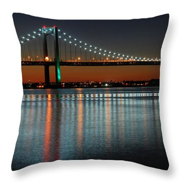 Suspended Reflections Throw Pillow by James Kirkikis