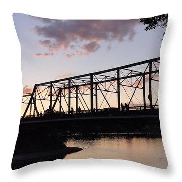 Bridge Scenes August - 1 Throw Pillow
