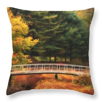 Bridge To Autumn Throw Pillow