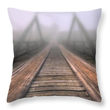 Bridge To Fog Throw Pillow by Veikko Suikkanen