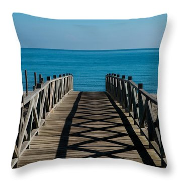 Bridge To Med Throw Pillow by Piet Scholten