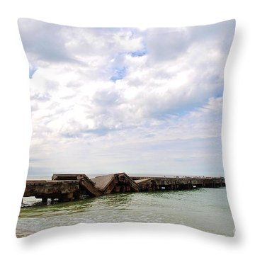 Throw Pillow featuring the photograph Bridge To Nowhere by Margie Amberge