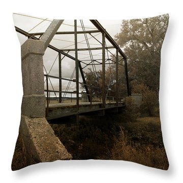Bridge To Nowhere Throw Pillow by Rebecca Davis