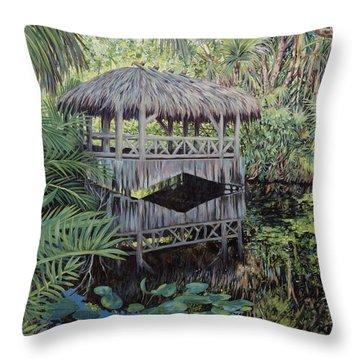 Bridge To Paradise Throw Pillow by Danielle  Perry