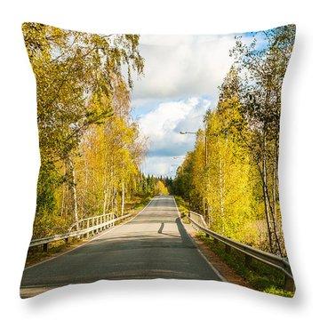 Bridge To Pretty Autumn Day Throw Pillow