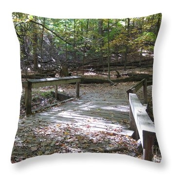 Bridge To The Forest Deep Throw Pillow