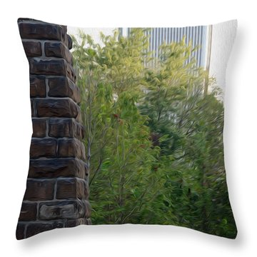 Throw Pillow featuring the digital art Bridge To The Future by Kelvin Booker