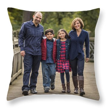 Bridge Walk - Group Hug Throw Pillow
