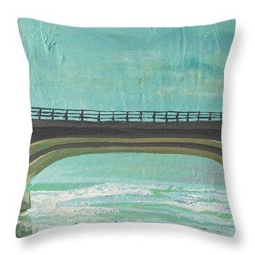 Bridge Where Waters Meet Throw Pillow by Joseph Demaree