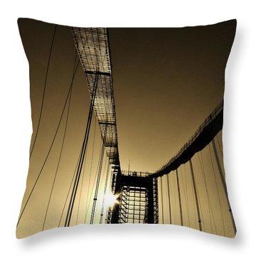 Bridge Work Throw Pillow by Robert Geary
