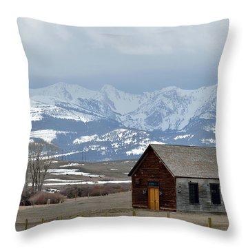 Bridger Background Throw Pillow by Kae Cheatham