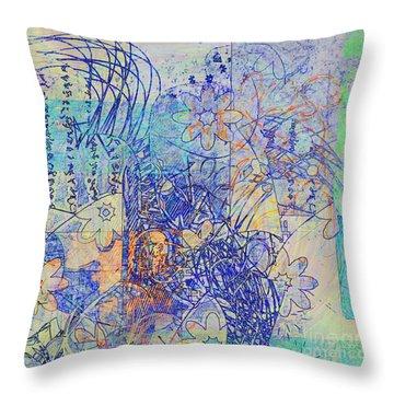 Throw Pillow featuring the digital art Bridges by Gabrielle Schertz
