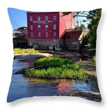 Bridgeton Mill 2 Throw Pillow by Marty Koch
