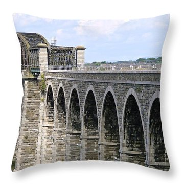 Bridging The Boyne Throw Pillow
