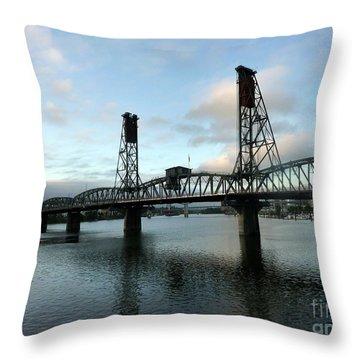 Bridging The River Throw Pillow by Susan Garren
