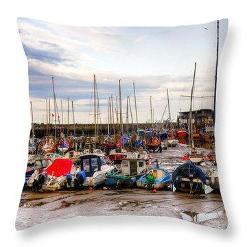Bridlington Harbour Throw Pillow by Svetlana Sewell
