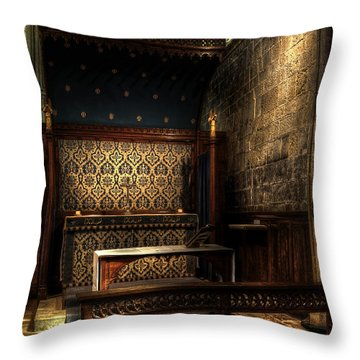 Bridlington Priory Throw Pillow by Svetlana Sewell