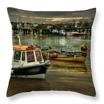 Throw Pillow featuring the photograph Bridlington Reflections by Brian Tarr