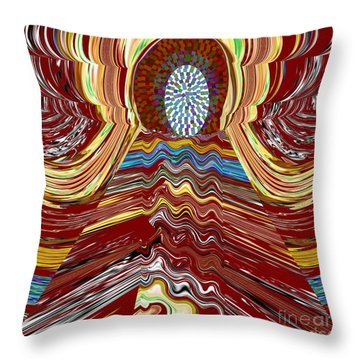 Bridge To Holy Grail Of Mystical Energies Whimisical Abstract By Navinjoshi At Fineartamerica.com  Throw Pillow