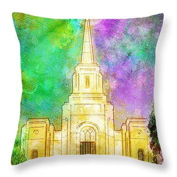 The Heavens Were Opened Throw Pillow by Greg Collins