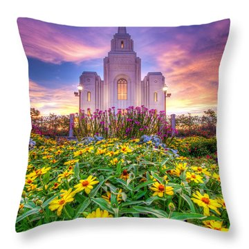 Throw Pillow featuring the photograph Brigham City Temple by Dustin  LeFevre