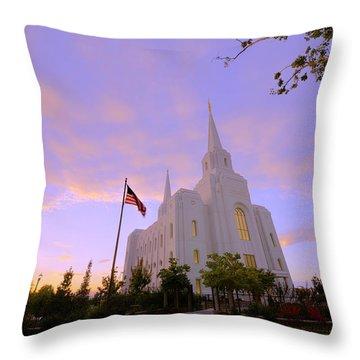 Brigham City Temple I Throw Pillow