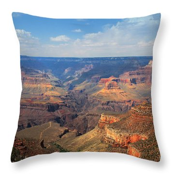 Bright Angel Trail Grand Canyon National Park Throw Pillow