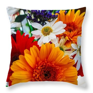 Throw Pillow featuring the photograph Bright by Angela J Wright