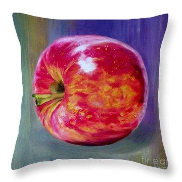 Bright Apple Throw Pillow by Graciela Castro