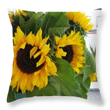 Throw Pillow featuring the photograph Bright Bouquet by Arlene Carmel