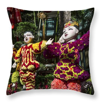 Throw Pillow featuring the photograph Bright Boys by Glenn DiPaola